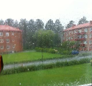 Regn på Västergatan